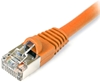 Cat 5E Shielded Patch Cable, Snagless, Orange,  7 FT