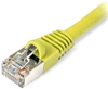 Cat 6 Shielded Patch Cable, Snagless, Yellow,  3 FT