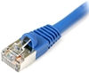 Cat 6 Shielded Patch Cable, Snagless, Blue,  7 FT