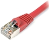 Cat 6 Shielded Patch Cable, Snagless, Red,  7 FT