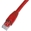 Cat 6A Patch Cable, Snagless, Red,  7 FT