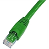 Cat 6A Patch Cable, Snagless, Green,  3 FT