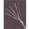 Bulk Cable, 6 Pair 24 AWG Shielded Solid PVC Gray