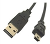USB 2.0 Cable, 480MBPS A Male To Mini-B Male / 10 FT