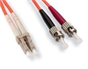 Fiber Optic Cable, Multimode, 62.5/125, Duplex, ST-LC, 12 Meters