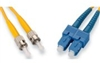 Fiber Optic Cable, Plenum, Singlemode, 9/125, Duplex, ST-SC, 2 Meters