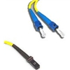 Fiber Optic Cable, Plenum, Singlemode, 9/125, Duplex, MTRJ-ST, 3 Meters