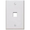 Quickport Wallplate, 1-Port, Ivory