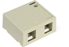 Quickport Surface Mount Housing, 2 Port, Ivory