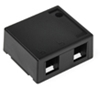 Quickport Surface Mount Housing, 2 Port, Black