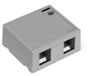 Quickport Surface Mount Housing, 2 Port, Gray