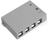 Quickport Surface Mount Housing, 4 Port, Gray
