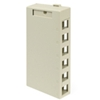 Quickport Surface Mount Housing, 6 Port, Ivory