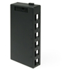 Quickport Surface Mount Housing, 6 Port, Black
