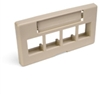 Quickport Modular Furniture Faceplate, 4-Port, Ivory