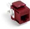 Quickport Extreme 6+ Cat 6 Jack, Dark Red