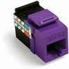 Quickport Gigamax 5E Cat 5E Connector, Channel Rated, Purple
