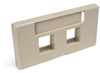 Quickport Modular Furniture Faceplate, 2-Port, Ivory