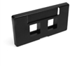 Quickport Modular Furniture Faceplate, 2-Port, Black