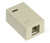 Quickport Surface Mount Housing, 1 Port, Ivory