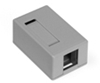 Quickport Surface Mount Housing, 1 Port, Gray