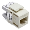 Quickport Gigamax 5E+ Cat 5E Connector, Component Rated, Almond