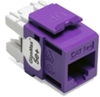 Quickport Gigamax 5E+ Cat 5E Connector, Component Rated, Purple 25 Pack