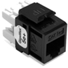 Quickport Gigamax 5E+ Cat 5E Connector, Component Rated, Black