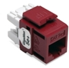 Quickport Gigamax 5E+ Cat 5E Connector, Component Rated, Dark Red