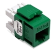 Quickport Gigamax 5E+ Cat 5E Connector, Component Rated, Green 25 Pack