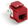 Quickport Extreme 6+ Cat 6 Jack, Crimson (Red) 25 Pack