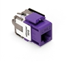 Quickport Extreme 10G Category 6A Connector, Channel Rated, Purple