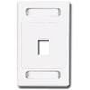 Max Faceplate, 1 Port White