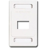Max Faceplate, 2 Port White