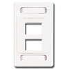 Max Faceplate, 4 Port White