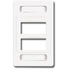 Max Faceplate, 6 Port White