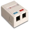 Max Surface Mount Box, 2 Port White