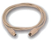 Keyboard Extension Cable, PS/2 Mini Din 6 M/F / 10 FT