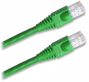 Cat 5E Patch Cable, Snagless, Green,  15 FT
