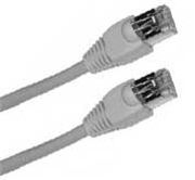 Cat 5E Patch Cable, Snagless, White,  3 FT