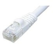 Cat 6 Patch Cable, 550 MHz, Snagless, White,  7 FT