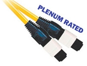 Fiber Optic Cable, OS2, MTP,  Plenum, 12 Fiber, 9/125, Singlemode, 10 Meter