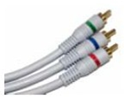 Component Video Cable 3 RCA M/M, 3 FT.