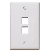 Quickport Wallplate, 2-Port, Ivory