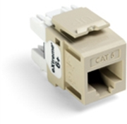Quickport Extreme 6+ Cat 6 Jack, Ivory 25 Pack