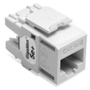 Quickport Gigamax 5E+ Cat 5E Connector, Component Rated, White
