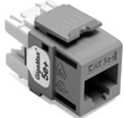 Quickport Gigamax 5E+ Cat 5E Connector, Component Rated, Gray