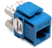 Quickport Gigamax 5E+ Cat 5E Connector, Component Rated, Blue 25 Pack