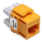 Quickport Gigamax 5E+ Cat 5E Connector, Component Rated, Yellow