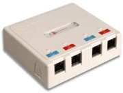 Max Surface Mount Box, 4 Port White